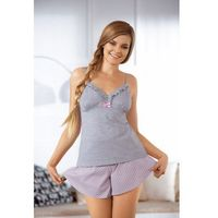 Babella Sorbet 3057-2 Szaro-różowa piżama damska (5901769717312)