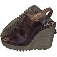 Sandały FLY London Pemba Rug Dark Brown P500263004 (FL52-b)