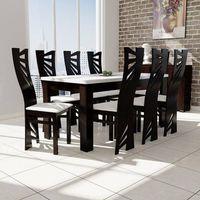Sandow Stół s-44 80/160 do 200 + 8 krzeseł mewa