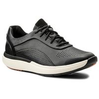 Sneakersy - un cruise lace 261326844 black leather 035, Clarks