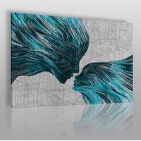Taniec żywiołów w błękitach - nowoczesny obraz na płótnie marki Vaku-dsgn