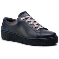Sneakersy TOMMY HILFIGER - Glitter Detail Dress Sneaker FW0FW04143 Midnight 403, kolor niebieski