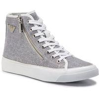Sneakersy EMPORIO ARMANI - X3Z017 XL487 A646 White/Silver, kolor szary