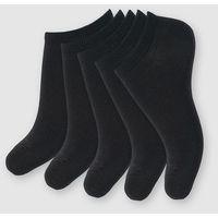 Krótkie skarpetki damskie 5 par, kolor czarny