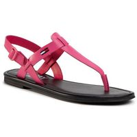 Sandały - color block basic thong sandal en0en00908 blush red xif marki Tommy jeans