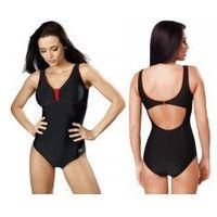 strój kąpielowy damski jednoczęściowy (czarny/czerwony) (gw10183/1), Gwinner