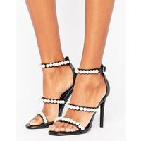 pearl strap barley there heeled sandal - black marki Missguided
