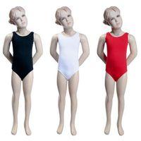 Body gimnastyczne bez rękawów B100B białe - biały