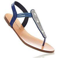 Sandały japonki bonprix błękit królewski, kolor niebieski