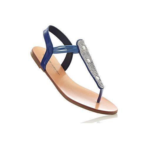 Bonprix Sandały japonki błękit królewski