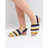 multi fringe flat sandals - multi marki Lost ink
