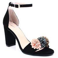 Brenda zaro t1920a czarny - eleganckie hiszpańskie sandały - czarny