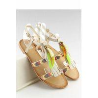 Sandałki w stylu boho beżowe lq-2662 beige, Inello