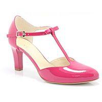 KOTYL 889 FUKSJA - Piękne buty taneczne ze skóry - Różowy, kolor różowy
