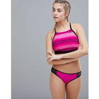 Adidas pink stripe bikini top - pink
