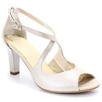 KOTYL 4325 PERŁA LICO - Taneczne sandałki ślub, kolor beżowy