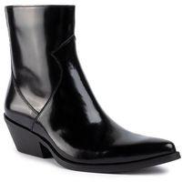 Calvin klein Botki jeans - arianna box calf r0727 black