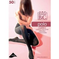 Rajstopy Donna B.C Polo 50 den 4-XL, biały/bianco. Donna B.C., 1/2-S/M, 4-XL, 3-L, 1/2-