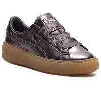 Puma Sneakersy - basket platform luxe wn's 366687 01 quiet shade/quiet shade