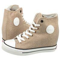 Big star Sneakersy złote brokatowe w274676 (bi53-d)