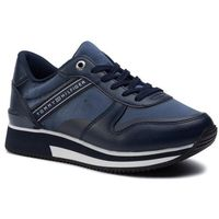 Sneakersy TOMMY HILFIGER - Mixed Active City Sneaker FW0FW04177 Tommy Navy 406