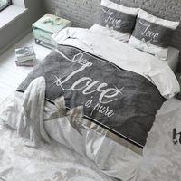 Pościel Pure Cotton 220x200+2 Poszewki 60x70 OUR LOVE WHITE ROM1133 - odbiór w 2000 punktach - Salony, Paczkomaty, Stacje Orlen