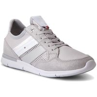 Sneakersy - metallic light weight sneaker fw0fw02996 diamond grey 001, Tommy hilfiger