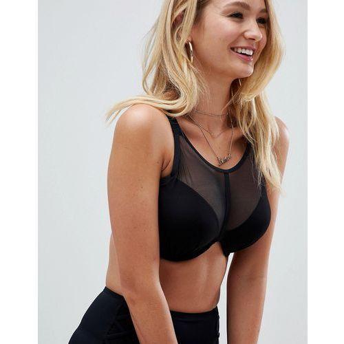 Pour Moi Fuller Bust Beachbound high neck underwire bikini top B-G cup in black - Black, bikini