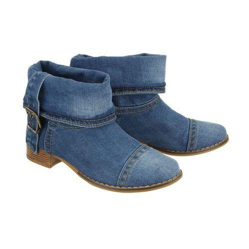 40c201 jeans, botki damskie marki Lanqier