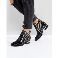 rylance black studded detail ankle boots - black, Jeffrey campbell