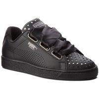 Sneakersy PUMA - Basket Heart Ath Lux Wn's 366728 03 Puma Black/Puma Black, kolor czarny