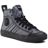 Sneakersy DIESEL - S-Astico Mid Lace W Y01932 P3007 H7808 Silver Black