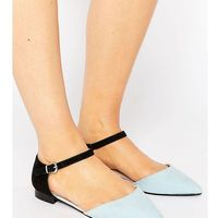 Asos lilybet wide fit two part ballet flats - multi