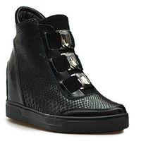 Kiera sneakersy damskie 667/CZ.PY Czarne, kolor czarny