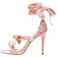 Lavish Alice POWDERED WRAP ANKLE STILETTO SANDALS Sandały na obcasie rosa