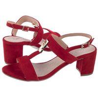 Sandały Caprice Czerwone 9-28303-22 524 Red Suede (CP138-b), kolor czerwony