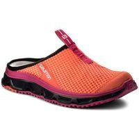 Klapki SALOMON - Rx Slide 3.0 W 401454 21 M0 Fiery Coral/Evening Blue/Pink Glo, kolor pomarańczowy