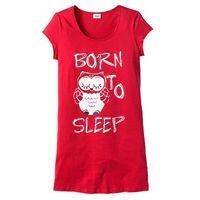 Bonprix Koszula nocna truskawkowy - sowa