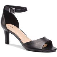 Clarks Sandały - laureti grace 261401604 black leather