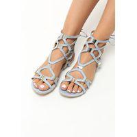 Jasnoniebieskie Sandały Come Across, kolor niebieski