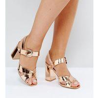 wide fit block heel sandals - copper marki Truffle collection
