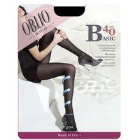 Rajstopy Oblio Basic 40 den 2-4 2-M, grafitowy/londra, Oblio