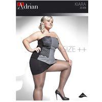Rajstopy Adrian Kiara Size++ 20 den 7-8XL 8, grafitowy/fumo, Adrian, kolor niebieski