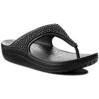 Japonki CROCS - Sloane Embellished Flip 204181 Black/Black, kolor czarny