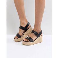 buckle wedge sandal - black marki London rebel