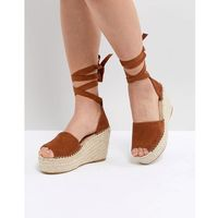 Raid brigid tan espadrille wedge sandals - tan