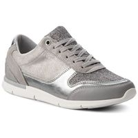 Tommy hilfiger Sneakersy - sparkle light sneaker fw0fw03276 diamond grey 001