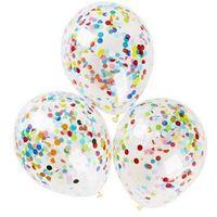 Congee.pl Balony przezroczyste z konfetti - 32 cm - 5 szt.