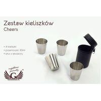 Zestaw kieliszków z grawerem Cheers 30ml x 4 sztuki