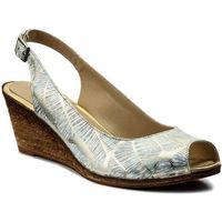 Sandały LANQIER - 40C411 Srebrny 1, 1 rozmiar